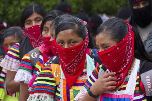 Women and Youth in the EZLN March