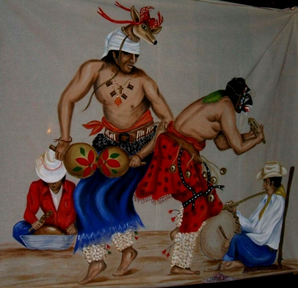 Rancho Peñasco Silkscreen of Traditional Dance of the Deer
