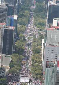 Protest over privatizing Pemex, the state-owned oil company