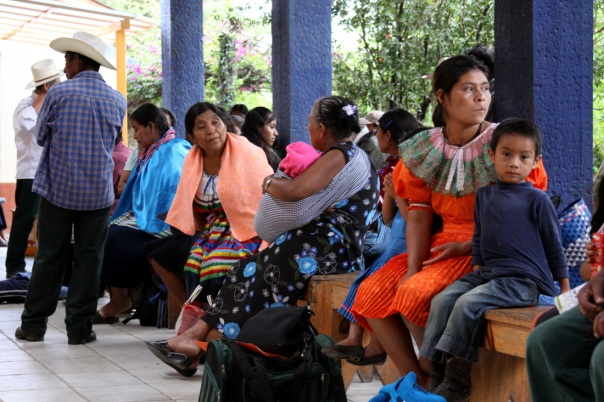 Patients at San Carlos Hospital, Altamirano, Chiapas