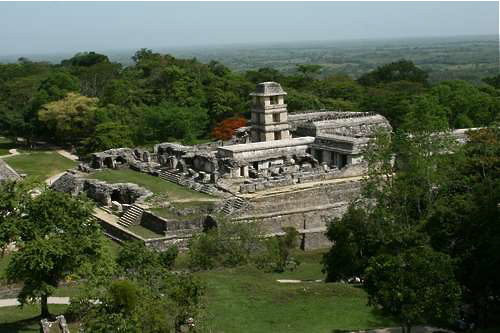 The Palace at Palenque Archaeological Site, Chiapas, Mexico