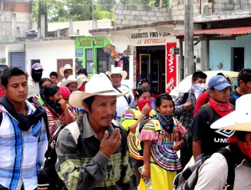 Photo from ARIC-ID and Lacandón Community mobilizations in Ocosingo