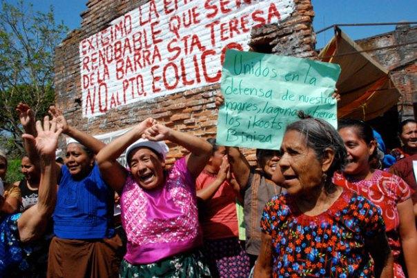 Indigenous Women protest wind farm in Oaxaca
