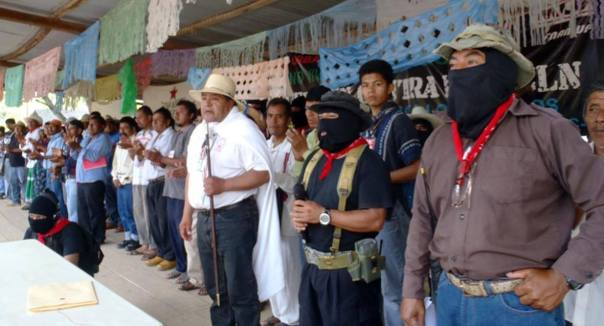 Indigenous man speaks at Zapatista exchange with Indigenous People of Mexico