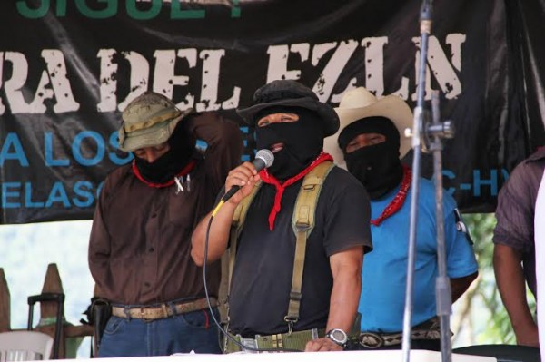 Sup Moisés at Zapatista Exchange with National Indigenous Congress