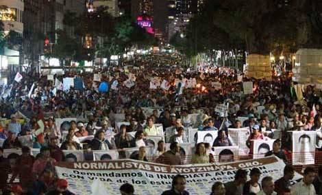 October 22 International Day of protests in Mexico City