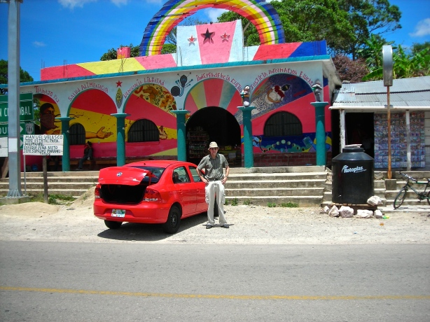 Zapatista store at the Cuxulja Crossing, Chiapas Mexico. Sept. 4, 2014