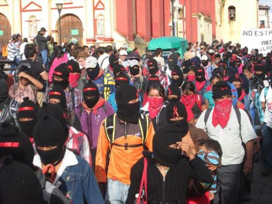 Zapatistas March in San Cristóbal