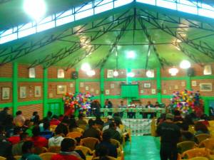 Caravan meets with civil society organizations inside Cideci, San Cristóbal, Chiapas
