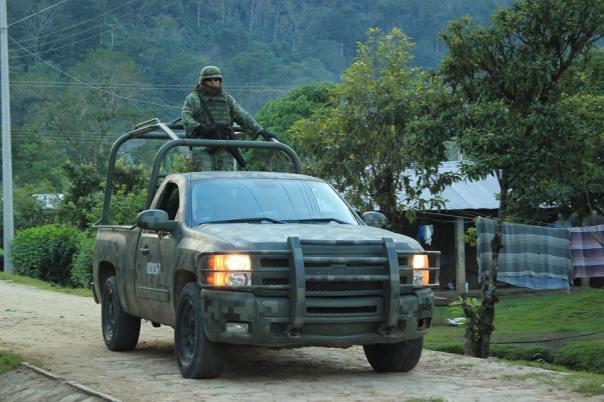 Mexican Army patrolling La Realidad