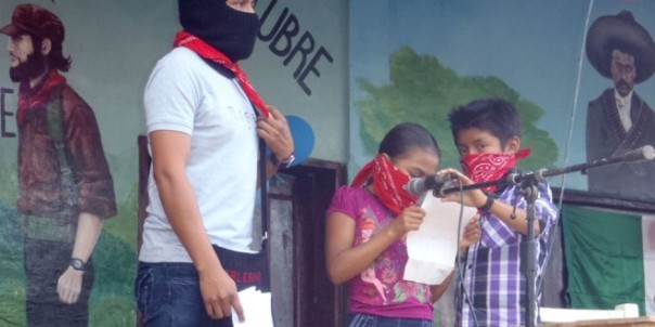 Inauguration of the autonomous Zapatista school and clinic.