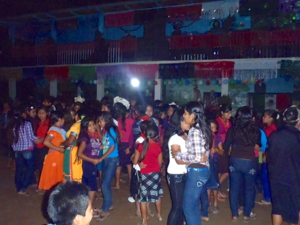 The Baile (Dance) is part of the celebration for the inauguration of the school/clinic**