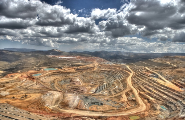 The exhausted Ayacocha gold and copper mine, Peru. It is near the site of the proposed Conga Mine.