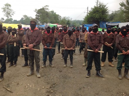 EZLN milicianos at the Homage to Luis Villoro and to teacher Galeano