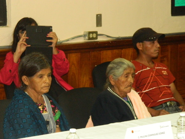The victims' family members attend the recognition in San Cristóbal