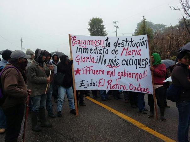 Protest yesterday in Oxchuc