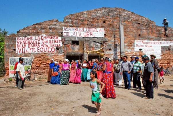 The autonomous community of Álvaro Obregón, Juchitán, Oaxaca