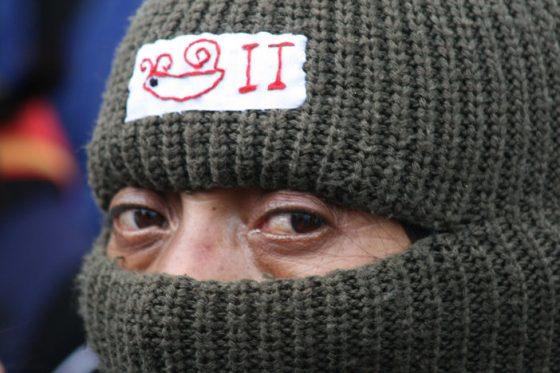 A member of the EZLN in San Cristóbal de las Casas. Photo: Isaín Mandujano.