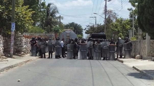 Yucatán police in Chablekal.