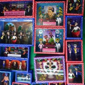 An artesanía booth inside the La Ciudadela Market.