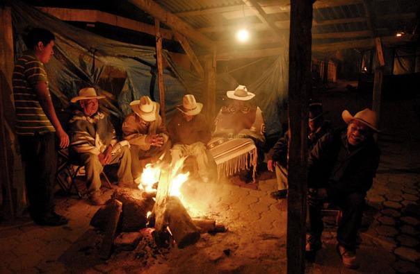 The campfires in Cherán, Michoacán, Mexico.