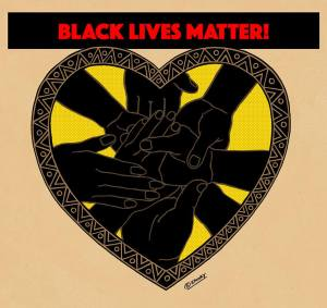 Black lives matter art by Emory Douglas.