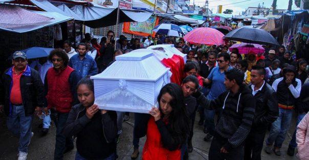 A funeral in Nochixtlán