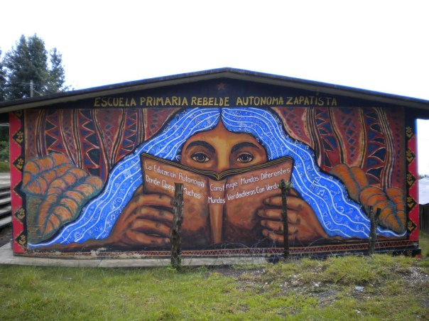 Zapatista primary school in the Caracol of Oventic, Chiapas.