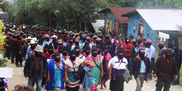 Zapatistas at the Fifth National Indigenous Congress.