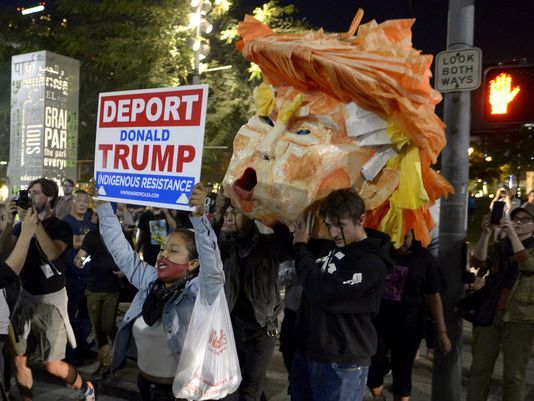 California election protests. AP