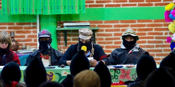"""Sup Galeano at the """"Zapatistas and ConSciences for Humanity"""" encounter."""